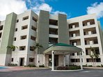 Entrance to the Palm Aruba Condos, the BEST Aruba vacation rental resort!