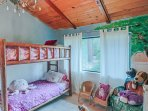 4th bedroom kids room with bunk bed.