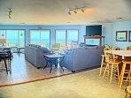 Living area has panoramic view of ocean