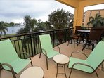Balcony view of pool and intracoastal