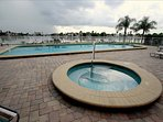 Pool area with intracoastal water views