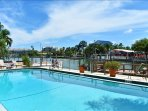 cool crisp pool and dock