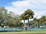park and tennis courts across from complex