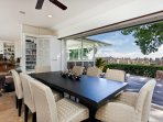 Dining Room with Ocean and City Views