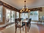 Gorgeous dining area with seats for all