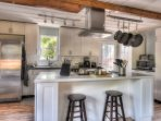 Closer view of the well-designed and remodeled kitchen