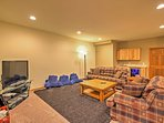 The basement features a flat-screen cable TV, DVD player, and Nintendo Wii game console!