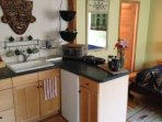 Kitchenette for fresh ground coffee, tea and light meals.