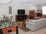 Rec-Room with foosball table-Ground Level