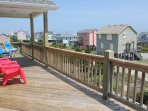 South Top Deck with views of the Ocean!