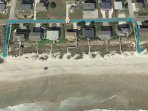 Birds Eye View of Beach Accesses for R&R