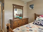 Each bedroom has plenty of storage space to keep your clothes.
