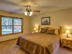 The tastefully decorated second bedroom also has a king-sized bed.