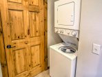 Use the in-unit laundry machines to keep your clothes fresh during your stay.