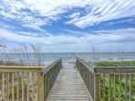 Deck- beach access