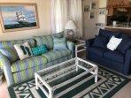 Living room - New sleeper sofa and love seat