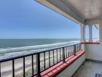 View from the oceanfront balcony