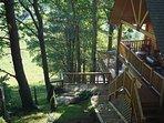 Multi-Level Deck & Well Lit Stairway