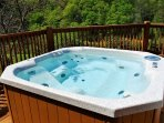 Hot tub on private deck w/ views