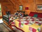 Upper Level, Bedroom w/Queen & Full
