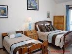 Top Floor Bedroom w/ Queen & Twin Beds