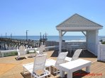 Oceanfront Sun Deck and Gazebo