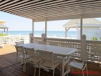 Oceanfront Covered Dining Porch