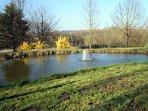 Le parc et son plan d'eau