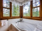 Soaking Tub in Black Forest Master Bath