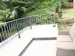 Master Balcony, out door seating, views to Porthcothan Bay, access to  upper side garden