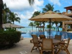 Lots of beach and pool furniture for you to enjoy.