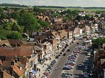 Marlborough High street.  A beautiful market town, 2 minutes walk from the house