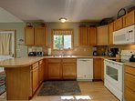 Fully equipped kitchen, including utensils and dishwasher, stove, microwave, coffee maker, toaster++