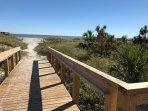 New boardwalk to the beach.