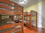 The third bedroom has  2 twin-over-twin bunk beds, great for kids!