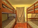 The fourth bedroom also has  2 twin-over-twin bunk beds.