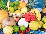 Vous y trouverez une grande variété de fruits exotiques.