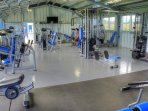 optional fitness club weight room