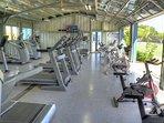 Optional fitness club cardio room