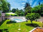 pool in the yard