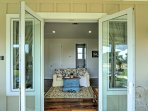 Open up the double doors in the living room and get some fresh air.