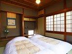 Japanese style bedroom.  Maximum 3 people.