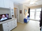 Built-in Desk with TV in the Bunk Room