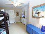Bunk Room Showing Dresser