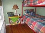 Bedroom with bunk beds.