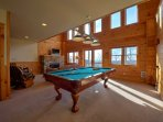 Entertainment Area with Pool Table - Lower Level