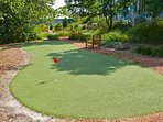 Small putting green