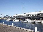 Walk to wharf restaurants