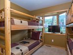 Bunk Beds and flat screen TV