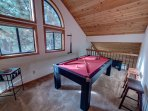 Loft / Game Room w/ Pool Table / Ping Pong Table Combo (No Drinks On Table)